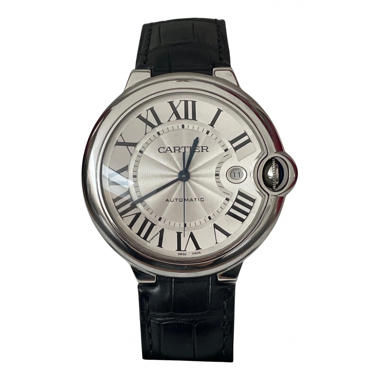 Cartier Ballon bleu Black Steel Watch for Women