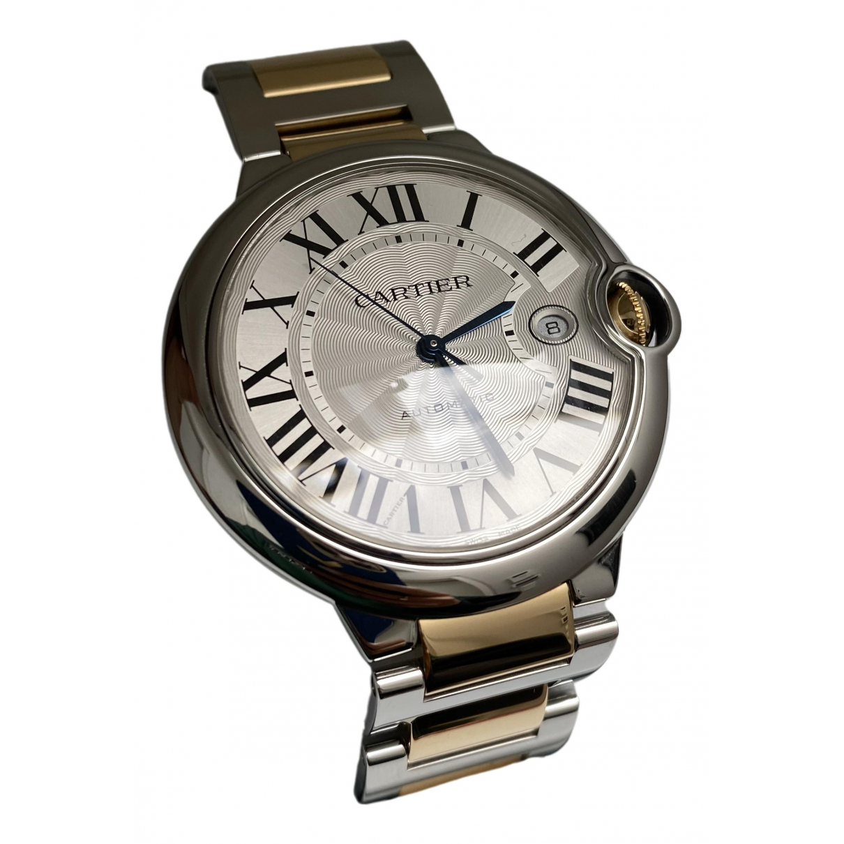 Cartier Ballon bleu Metallic gold and steel Watch for Women