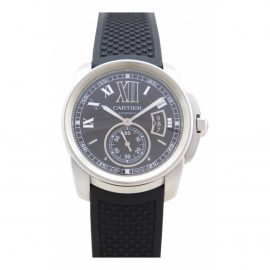 Cartier Calibre Black Steel Watch for Men