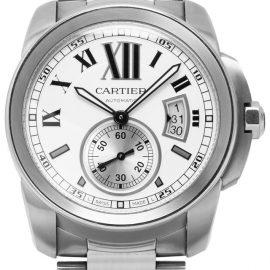 Cartier Calibre de Cartier W7100015, Roman Numerals, 2016, Very Good, Case material Steel, Bracelet material: Steel