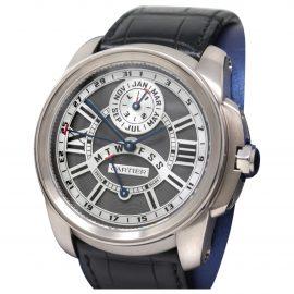 Cartier Calibre white gold watch