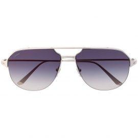 Cartier Eyewear Santos de Cartier aviator-frame sunglasses - Silver