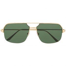 Cartier Eyewear Santos de Cartier pilot-frame sunglasses - Gold