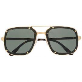 Cartier Eyewear Santos de Cartier square-frame sunglasses - Brown