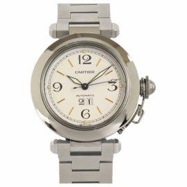 Cartier Pasha Chronographe White Steel Watch for Women