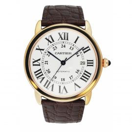 Cartier Ronde Solo pink gold watch