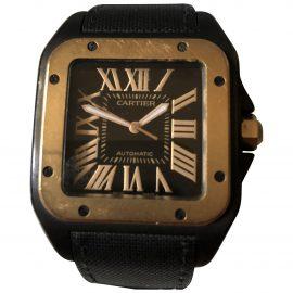 Cartier Santos 100 Black Ceramic Watch for Men