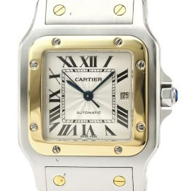 Cartier Santos Galbee Automatic Stainless Steel,Yellow Gold [18K] Men's Dress Watch W20058C4, Gold