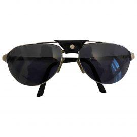 Cartier Santos Metallic Metal Sunglasses for Men