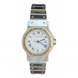 Cartier Santos Ronde Grey gold and steel Watch for Men