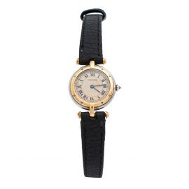 Cartier Silver 18K Yellow Gold And Stainless Steel Panthere Vendome 1057920 Women's Wristwatch 23 mm