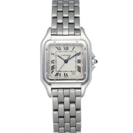 Cartier Silver Stainless Steel Panthere 1310 Women's Wristwatch 27 MM