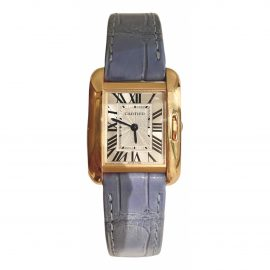 Cartier Tank Anglaise Pink gold Watch for Women