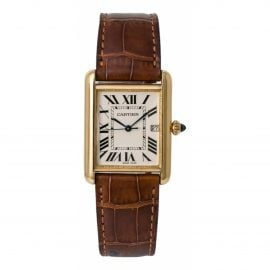 Cartier Tank Louis Cartier White Yellow gold Watch for Men