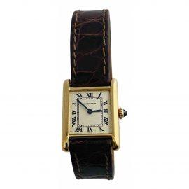 Cartier Tank Louis Cartier White Yellow gold Watch for Women