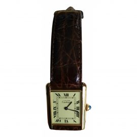 Cartier Tank Must Gold Gold plated Watch for Men