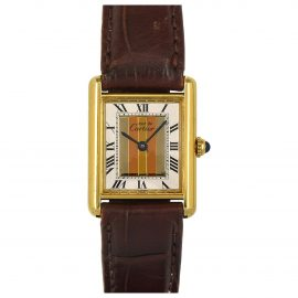 Cartier Tank Must White Silver Watch for Women