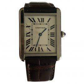 Cartier Tank Solo Silver Steel Watch for Men