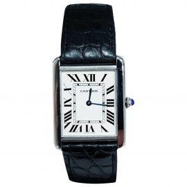 Cartier Tank Solo White Steel Watch for Men