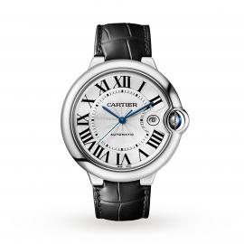 Cartier watch Ballon Bleu de Cartier watch, 42 mm, steel, leather