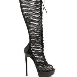 Casadei Blade Webster mesh boots - Black