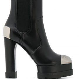 Casadei City Rock 130 platform ankle boots - Black