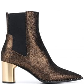Casadei glitter pointed toe ankle boots - GOLD