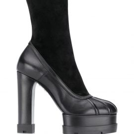 Casadei platform calf-length boots - Black