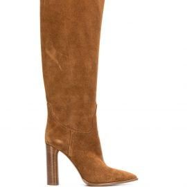 Casadei pointed toe knee-high boots - Brown