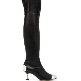 Casadei thigh high boots - Black