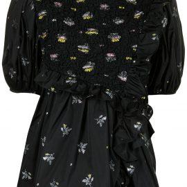 Cecilie Bahnsen Carlotta asymmetrical ruffled blouse - Black