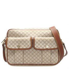 Celine Beige/Brown Macadam Canvas Crossbody Bag