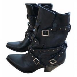 Celine Berlin leather biker boots