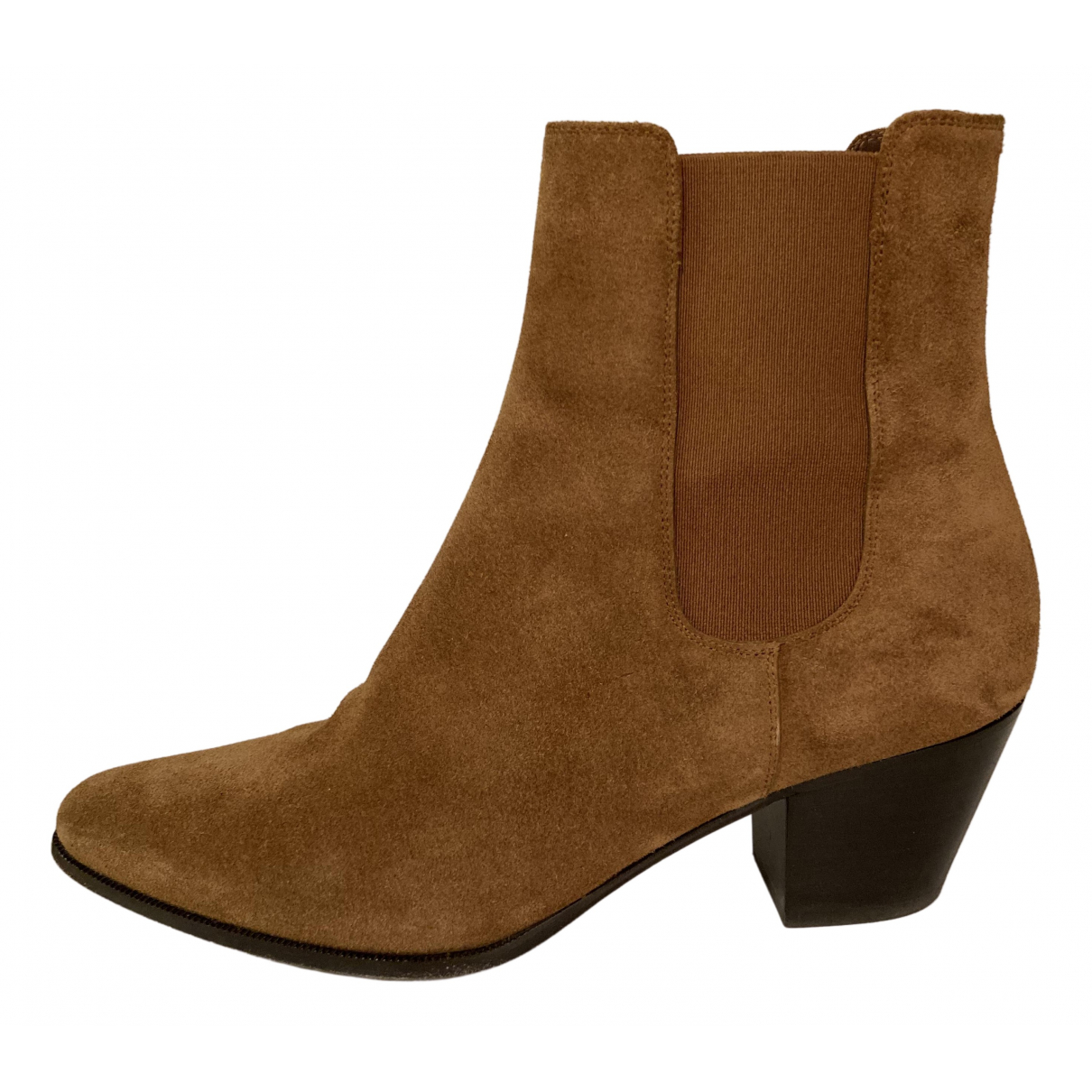 Celine Camargue Brown Suede Ankle boots for Women