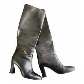 Celine Claude leather riding boots