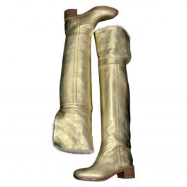 Celine Folco leather riding boots