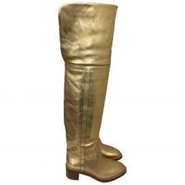 Celine Folco leather snow boots