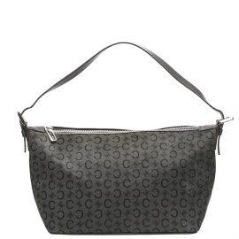 Celine Gray C Macadam Canvas Shoulder Bag