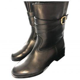 Celine Jodhpur leather biker boots
