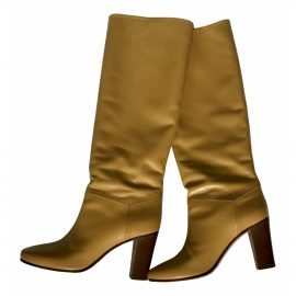Celine Leather biker boots
