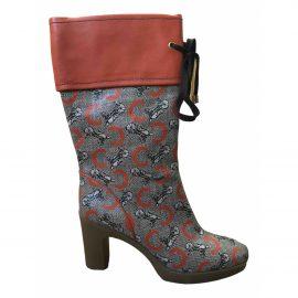 Celine Leather wellington boots