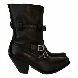 Celine N Black Leather Ankle boots for Women
