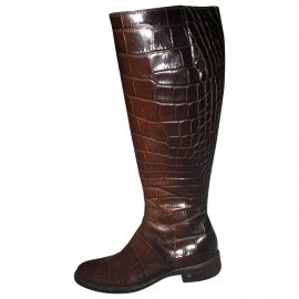 Celine Patent leather riding boots