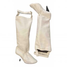 Celine Soft Ballerina leather riding boots