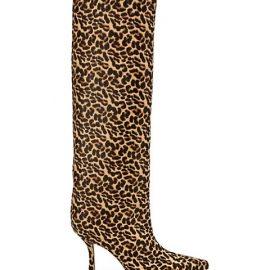 Chad 90 Leopard-Print Calf Hair Knee-High Boots