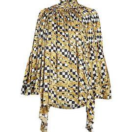 Chain Print Silk Blouse