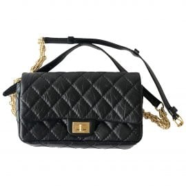 Chanel 2.55 Black Leather Clutch Bag for Women