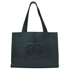 Chanel Black Leather Jumbo Extra Large Tote Bag