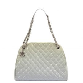 Chanel Blue Patent Leather Just Mademoiselle Shoulder Bag