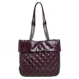 Chanel Burgundy Quilted Leather Ultimate Stitch Tote
